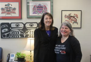 Nora with Senator Maria Cantwell--WA (D)